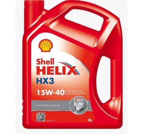 SHELL HELIX HX3 15W40 4L