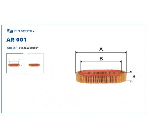 Filtr Powietrza FILTRON AR001