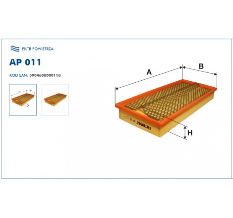 Filtr Powietrza FILTRON AP011