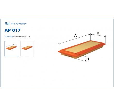 Filtr Powietrza FILTRON AP017