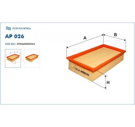 Filtr Powietrza FILTRON AP026