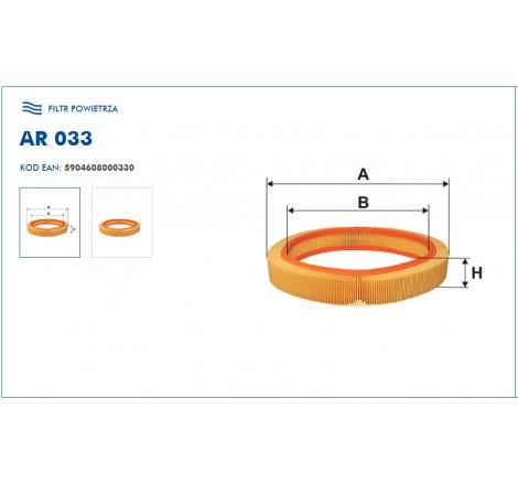 Filtr Powietrza FILTRON AR033