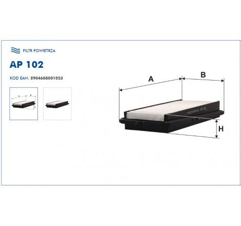 Filtr Powietrza FILTRON AP102