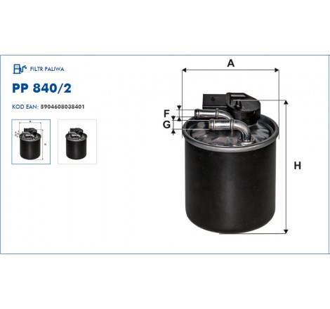 Filtr Paliwa FILTRON PP840/2