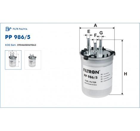 Filtr Paliwa FILTRON PP986/5