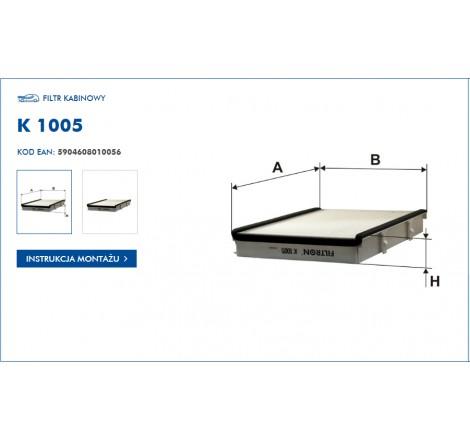 Filtr Kabinowy FILTRON K1005