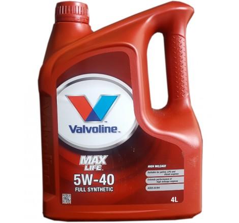 VALVOLINE 5W40 MAX LIFE 4L