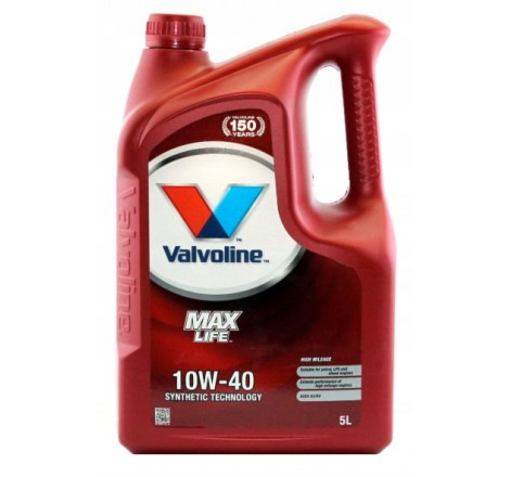 VALVOLINE 10W40 MAX LIFE 5L